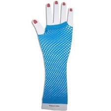 Fishnet Gloves (Blue)